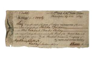 Nicholas Biddle Signed Bank of the United States Bill