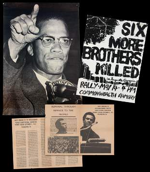 Black Panther Party Posters, 3 Pcs, Featuring Nearly 4