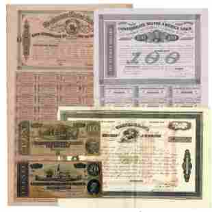 Confederate States of America Scarce Bonds and Currency