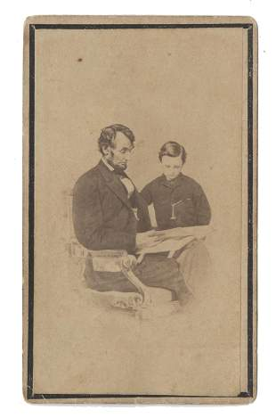Abraham Lincoln CdV, Reading The Bible To His Son