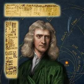 Isaac Newton Scientific Autograph Manuscript Relating