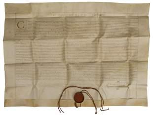 Stunning Vellum Manuscript Circa 17th Century