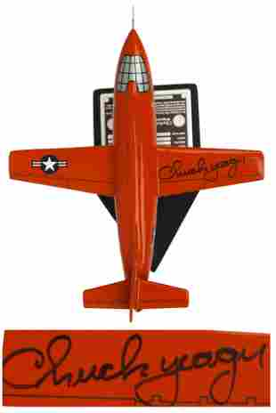 Chuck Yeager Signed Bell X-1 Model Airplane