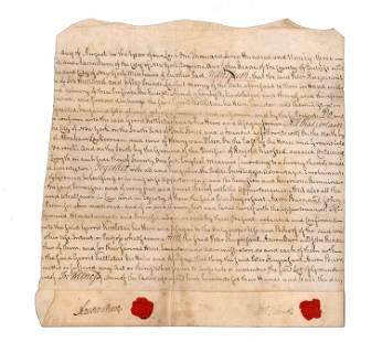 Aaron Burr Signed Land Agreement for Peter Stuyvesant,