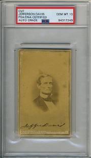 Signed Carte-de-Visite of Jefferson Davis Signed,