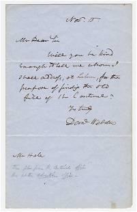 Daniel Webster ALS To Boston Editor, With Bonus Free