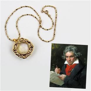 Composer Ludwig van Beethoven Three Hair Strands,