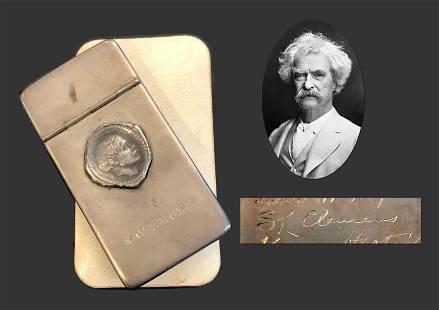 New York Literary Club Calling Card Case 1909, Mark