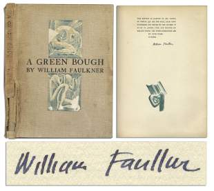 """William Faulkner Signed Limited Edition """"A Green Bough"""""""