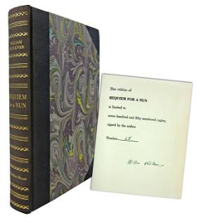 """William Faulkner Signed Limited Edition """"Requiem for a"""