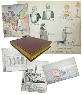 Jazz Age-Era Sketchbook of the French Riviera, with 30+
