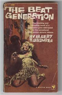 """Kerouac Personally Owned Book """"The Beat Generation"""","""