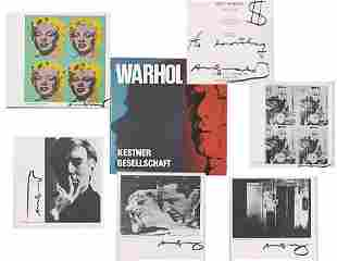 Andy Warhol 7x Signed Book & Original Drawing, Marilyn,