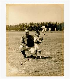 Lou Gehrig Signed Photograph, With Babe Ruth in the