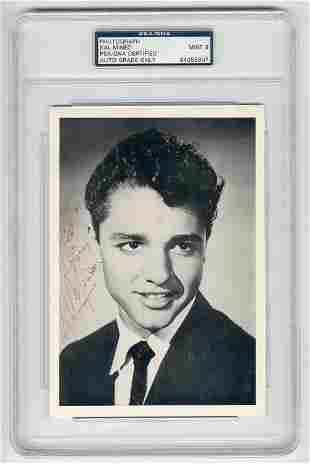 Sal Mineo Signed 1950s Publicity Photo, PSA/DNA Slabbed