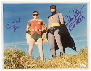 "Adam West and Burt Ward Signed ""Batman"" Photo, JSA"
