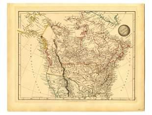 Map of North America, London: 1828, Beautiful