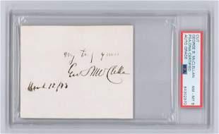 Civil War General George McClellan Signature, PSA