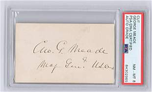 George Meade Signature & Rank, PSA Slabbed and Graded