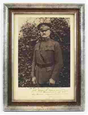 John Pershing Signed & Inscribed Photograph, Framed