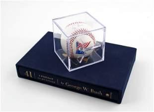 George Bush Sr. Signed Baseball & George W. Bush Signed