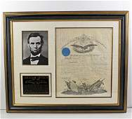 Attractive Abraham Lincoln Signed Military Appointment,