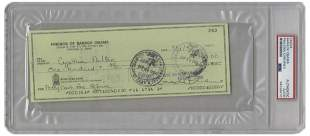 Barack Obama Signed Check, PSA Encapsulated