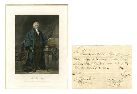 O. Ellsworth Document Signed Shortly After the Signing