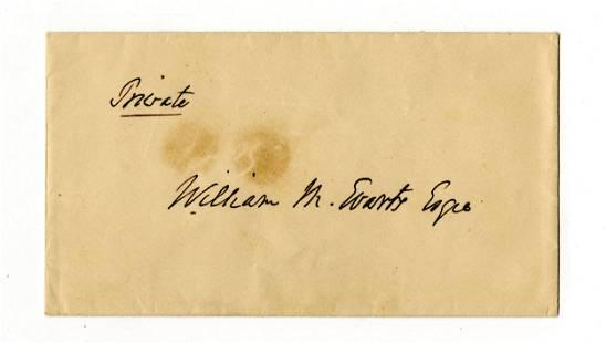 William M. Evarts Endorsed Envelope
