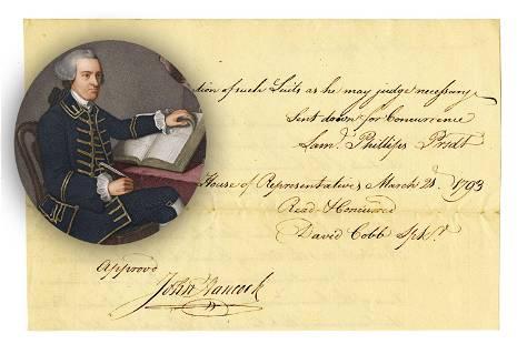 John Hancock Signed Document Just Seven Months Before