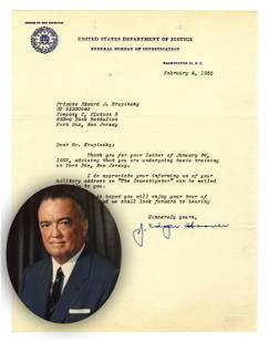 "J. Edgar Hoover TLS Sending An Issue of ""The"