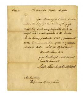 Declaration Signer Samuel Huntington Letter Signed to