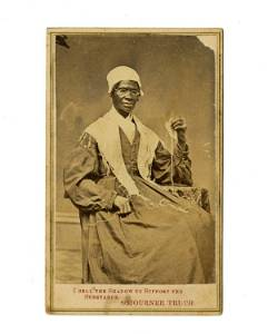 """Sojourner Truth Signed CDV Quite Unique """"I Sell the"""