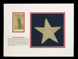 "Civil War 34-Star ""Old Glory"" Flag Remnant"
