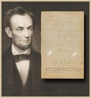 Abraham Lincoln, Fantastic Early Legal Brief, All in