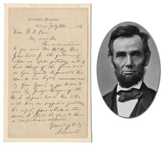 "Lincoln Slavery Letter! ""the freed-men in Gen."