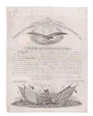 James K. Polk Military Appointment Boldly Signed,