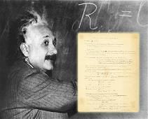 Albert Einstein Remarkable Signed Manuscript Notes on
