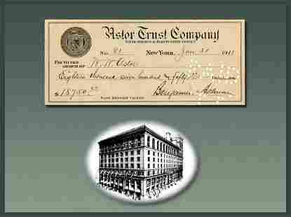 New York Department Store Pioneer B. Altman Pays