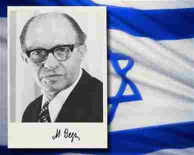 Menachem Begin Signed Nobel Prize Photograph