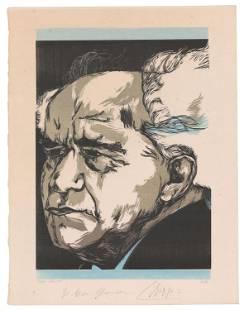 David Ben-Gurion Stunning Woodcut Portrait