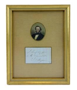 Judah P. Benjamin Signature Handsomely Presented,