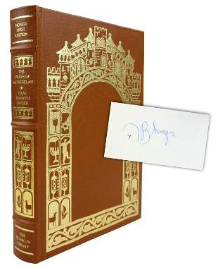 """Isaac Bashevis Singer Signed Book """"The Death of"""