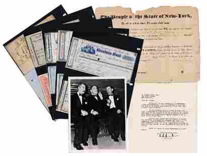 NY Mayors Archive of Signed Appointments (2), a TLS,