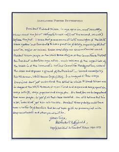 Alexander Butterfield's Handwritten Signed Testimony