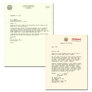 Clinton and Ford TLSs Re: State Gov't and Vietnam