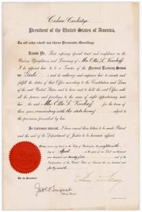 Calvin Coolidge As President, DS Appointing National