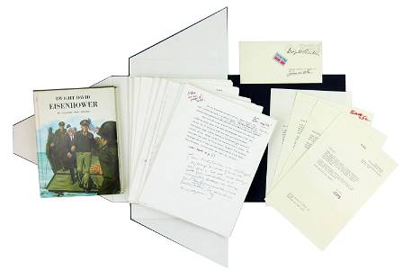 "Eisenhower 1150 handwritten Words on Biography: ""outlin"
