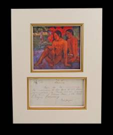 Paul Gauguin DS Re: Payment from Vollard Perhaps for