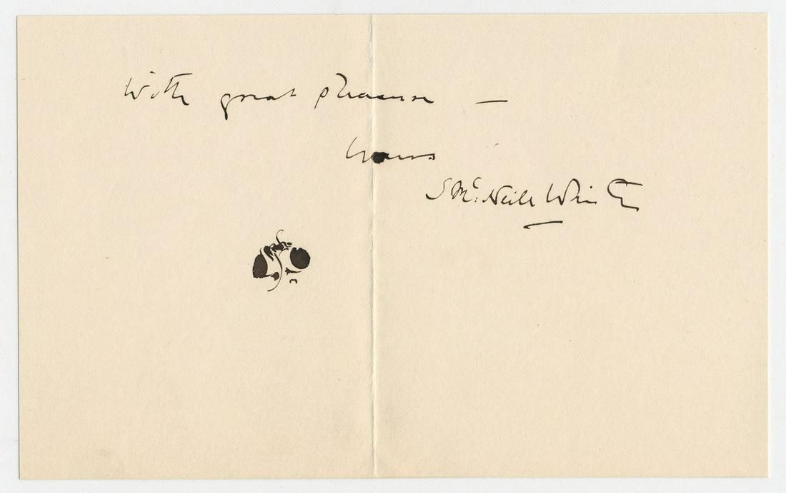 James McNeill Whistler 2x Signed Card Featuring Famous